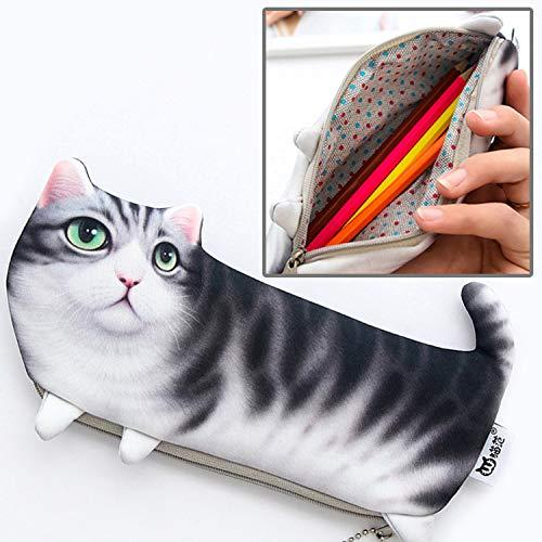 Bolsa LIJM Gato Version del Estilo De The Cat Simulacion Tres Patas Portatil De Escritorio Bolso Cosmetico, Tamano: 22x10.5cm Color3