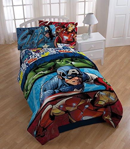 Marvel Avengers Twin Comforter and Sheet Set