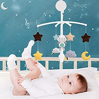 Baby Musical Crib Mobile with Hanging Rotating Toys and Music, Infant Bedbell Rattle Toy Rotating Bell Baby Comfort Cloth Toy for Babies Boy Girl Toddler Sleep: Arts, Crafts & Sewing