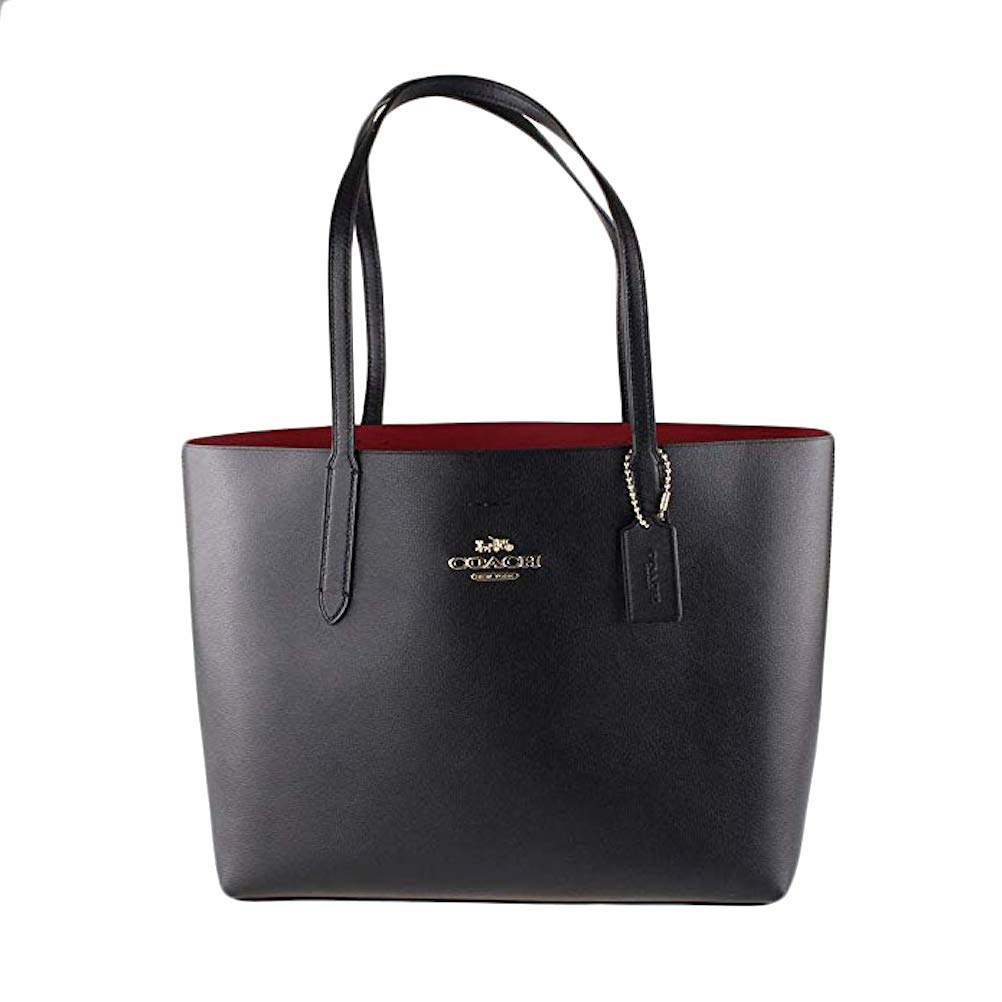 COACH AVENUE TOTE BLACK/RED
