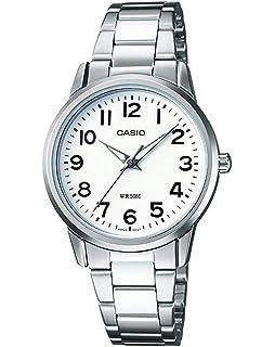 25c1c9dc4325 Casio Reloj Analógico para Mujer de Cuarzo con Correa en Acero Inoxidable  LTP-1303PD-