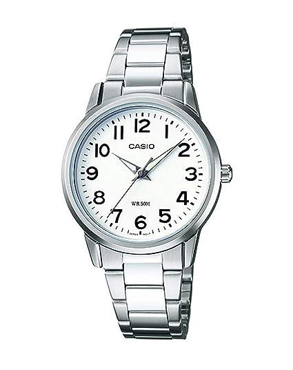 Casio Reloj Analógico para Mujer de Cuarzo con Correa en Acero Inoxidable LTP-1303PD-7BVEF: Amazon.es: Relojes