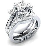 Women fashion jewelry 925 silver white Sapphire wedding ring Set size 6-10#by pimchanok shop (8)