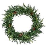 Sullivans Arborvitae with Pine Cone Christmas Winter Wreath-20 Wide