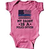 inktastic - Daddy is A Police Officer Infant Creeper 6 Months Raspberry 2ddb1