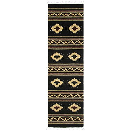 (Premium Zapotec Southwest Wool Runner 32in x 10ft - Mesa Awakening)