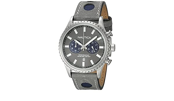 Amazon.com: Nautica NMS 02 Chronograph Grey Dial Mens Watch NAI18511G: Watches