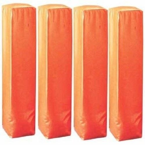 Set of 4 Football Field End Zone Weighted Bottom Bright Orange Pylons