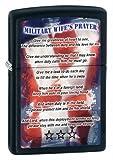 Zippo Matte Military Wives Prayer Lighter (Black, 5 1/2 x 3 1/2-Cm)