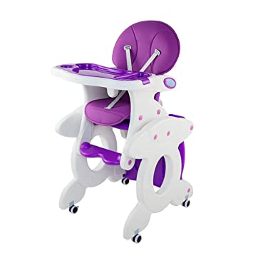 Yang baby Silla de Comedor para niños Escritorio para niños Asiento de plástico Mesa y sillas para niños Silla de Comedor para niños Combinación ...