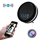 Hidden Camera Clock WiFi Spy Camera 1080P Security Camera with Motion Detection Night Vision Colorful Light