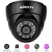 KKmoon TBL-1D42H2IR 700+ TVL Dome Camera with 24pcs IR LED Night Vision Wide Angle NTSC System Indoor Security Surveillance CCTV Camera - Ships from US