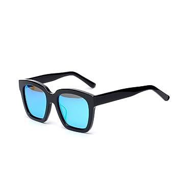 LQQAZY Gafas De Sol Mujer Marea Cara Redonda Gafas De Sol Polarizadas Personalidad Masculino Gafas De