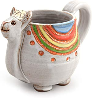 product image for Dolly the Llama American Made Stoneware Pottery Coffee Mug, 14-oz