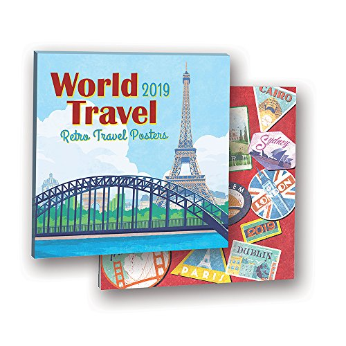 Orange Circle Studio 2019 Album Wall Calendar, Steven Thomas World Travel: Retro Travel Posters