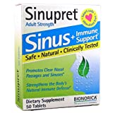 Bionorica Sinupret Herbal Supplement, 50 Count