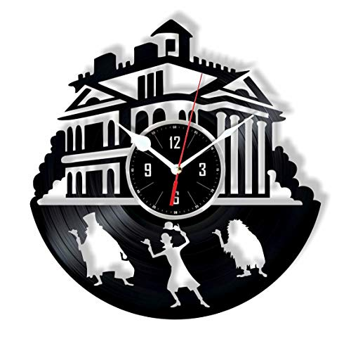 Haunted Mansion Clock - HMGift Haunted Mansion Vinyl Wall Clock - Great Gift for Birthday, Anniversary or Any Other Occasion - Beautiful Home Decor - Unique Design That Made Out of Retro Vinyl Record …