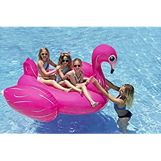 Poolmaster Jumbo Swimming Pool Float Rider, Flamingo