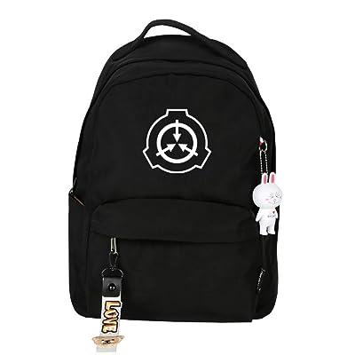 SCP Foundation Women Cute Back Pack Kawaii Bookbag Candy Color Travel Backpack Nylon School Bags Boys Waterproof Daypack (9) | Kids' Backpacks