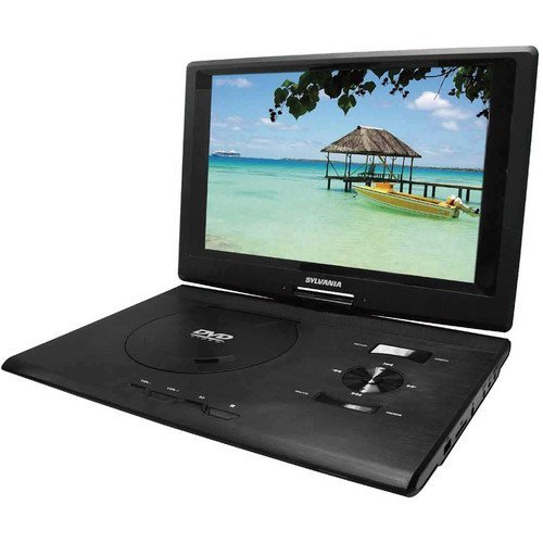Sylvania Portable 13.3 Inch Widescreen Multi Media DVD Player Ideal for Travel, Road Trips, Plane Rides, Plus 12V Car Adaptor & Remote Control Included by Sylvania