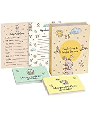 MPFY- Baby Shower Advice Cards, Baby Shower Games, Pack of 100, Prediction Cards 50 Large, Advice Cards 50 Small, Baby Shower Favors, Boys, Girls, Parents, Baby Shower Decorations Neutral, BabyShower