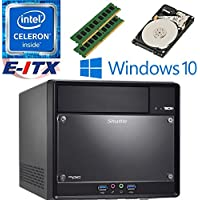 Shuttle SH110R4 Intel Celeron G3930 (Kaby Lake) XPC Cube System , 8GB Dual Channel DDR4, 2TB HDD, DVD RW, WiFi, Bluetooth, Window 10 Pro Installed & Configured by E-ITX