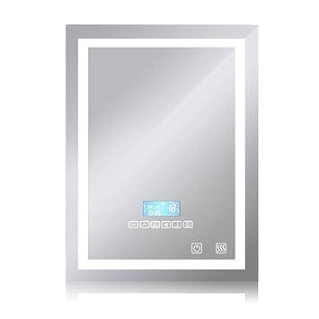 Wefun 600x800mm Badspiegel mit Beleuchtung,Badezimmerspiegel mit ...