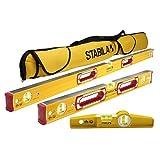 "Stabila Classic 196 3 Level Set Includes 48""/24""/25100 Torpedo and 30015 Case"