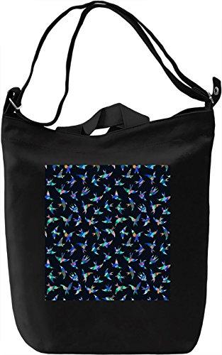 Birdy Print Borsa Giornaliera Canvas Canvas Day Bag| 100% Premium Cotton Canvas| DTG Printing|