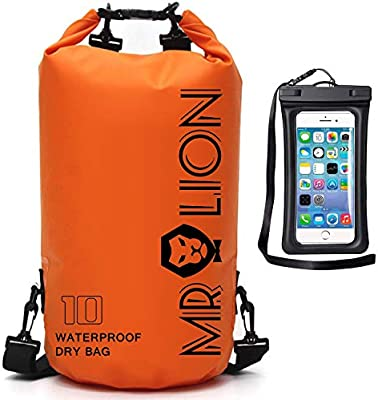 Rafting Boating Camping Swimming Floating and Fishing with Waterproof Phone Case Hiking MALELION Waterproof Dry Bag Beach Roll Top Dry Compression Sack Keeps Gear Dry for Kayaking