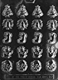 Cybrtrayd C161 Bite Size Assorted X-Mas Life of the Party Chocolate Candy Mold