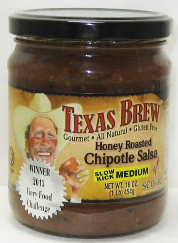 Amazon.com: Texas Brew Salsa 16 Ounce (Pack of 3) (Honey Roasted Chipotle Salsa Medium)