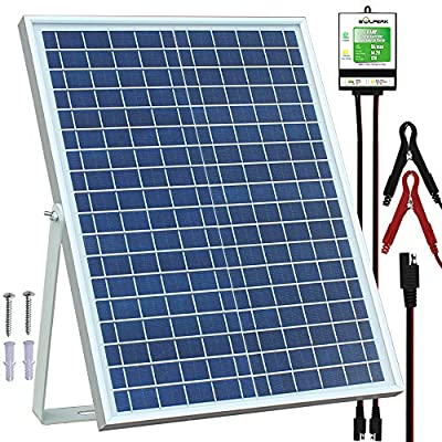 SOLPERK 20W Solar Panel?Solar trickle Charger?Solar Battery Charger and Maintainer? Suitable for Automotive, Motorcycle, Boat, ATV,Marine, RV, Trailer, Powersports, Snowmobile, etc. (20W Solar Panels)