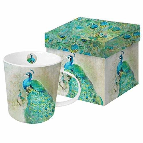 (Paperproducts Design 603109 Peacock Royale Gift Boxed Mug, Blue/Green)