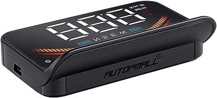 Autopmall pantalla HUD 3.5 pulgadas HUD GPS OBD2 Dual System ...