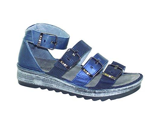 Velvet Suede Footwear - Naot Footwear Women's Begonia, Blue Velvet Suede/Black Nubuck/Navy Reptile Leather/Ink Leather, 37 (US Women's 6) M