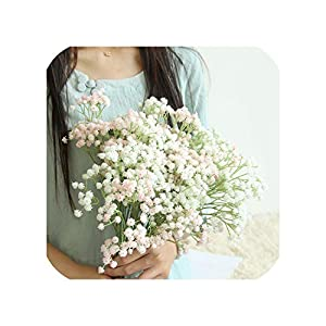 Heart to hear Artificial flowers 1 PC Artificial Flowers Fake Plastic Baby Breath Flower 5 Colors White Gypsophila for Wedding Home Part Decoration 73