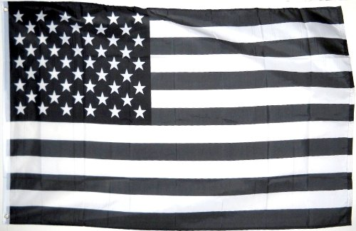 American Protest Flag, Black & White banner, 3'x5' - Black History Flags
