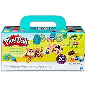 Play-Doh - Super Colour Pack inc 20 Tubs of Dough - Creative Kids Toys - Ages 2+