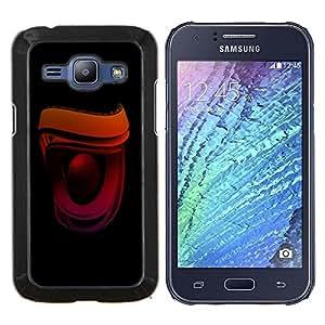 KLONGSHOP // Cubierta de piel con cierre a presión Shell trasero duro de goma Protección Caso - Altavoz - Samsung Galaxy J1 J100 //