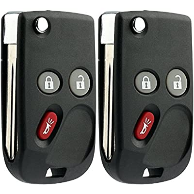KeylessOption Keyless Entry Remote Control Car Flip Ignition Key Fob Replacement for Chevy GMC Cadillac LHJ011 (Pack of 2): Automotive