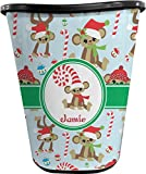 RNK Shops Christmas Monkeys Waste Basket - Double Sided (Black) (Personalized)