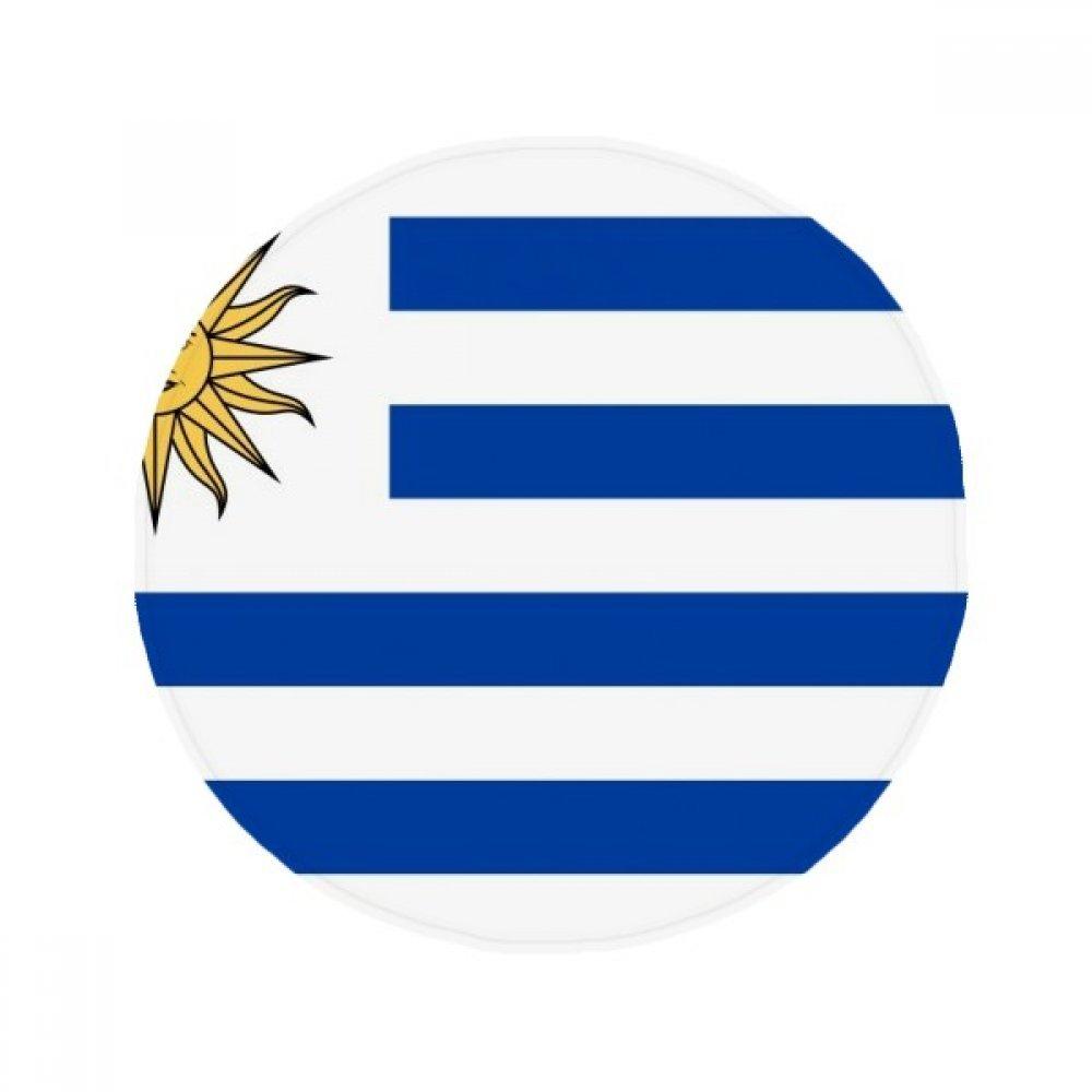 60X60cm DIYthinker Uruguay National Flag South America Country Anti-Slip Floor Pet Mat Round Bathroom Living Room Kitchen Door 60 50Cm Gift