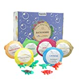 6 Pack Bath Bombs for Kids, Appolis Gift Set with Surprise Dinosaur Toys, Organic and Natural Bath Bomb Kit, Lush Fizzy Spa to Moisturize Dry Skin, XL 6 X 4.0 oz