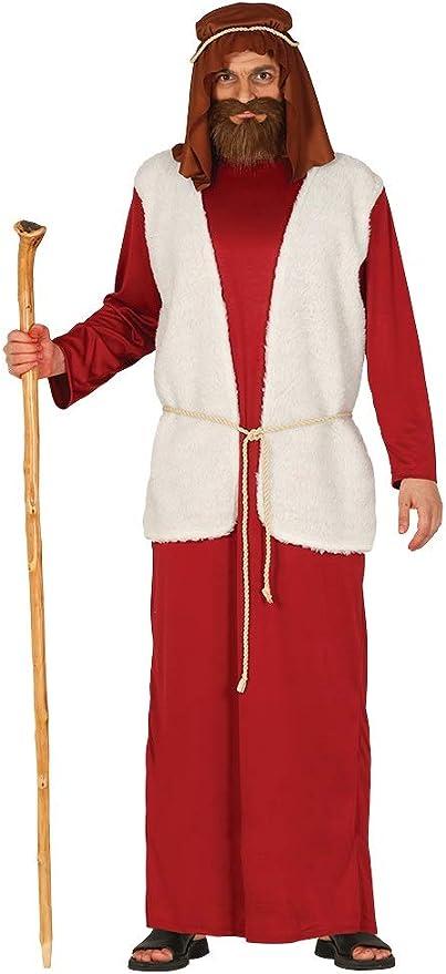 GUIRMA Disfraz de Pastor Rojo Hombre recita belén Viviente: Amazon ...