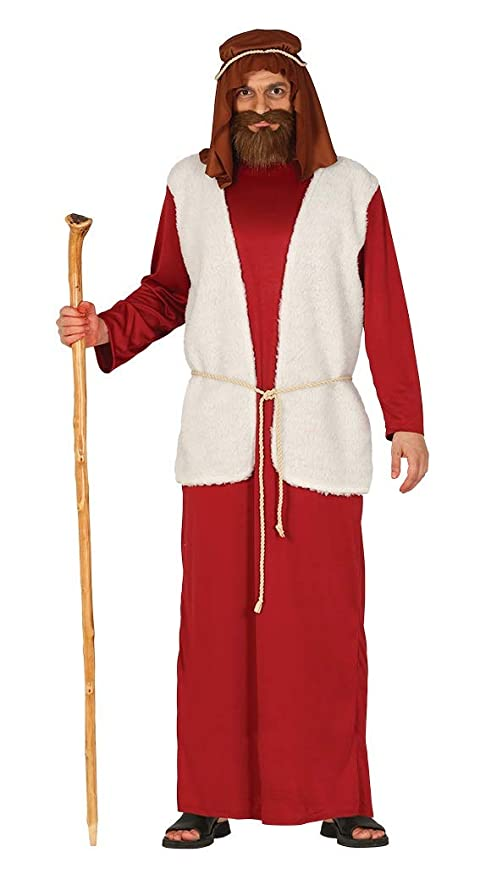 GUIRMA Disfraz de Pastor Rojo Hombre recita belén Viviente ...