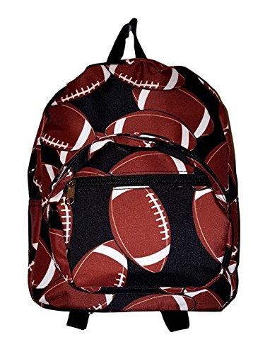 Football Backpack (11-inch Mini Backpack Purse, Zipper Front Pockets Teen Child (Football Print))