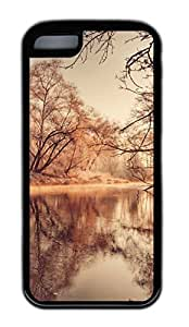 iphone 5C case,custom iphone 5C case,TPU Material,Drop Protection,Shock Absorbent,Customize your own cell phone case pattern,black case,The lake is ablaze