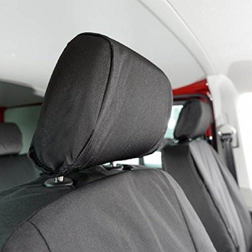 Black UK Custom Covers SC104B Tailored Heavy Duty Waterproof Front Seat Covers