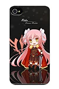 Special Barmduckydoyl Skin Case Cover For Iphone 4/4s, Popular Armor Blue Eyes Blue Hair Bow Chibi Cosplay Dress Fate Zero Hat Pink Hair Red Eyes Red Hairsword Tomoe Mami Weapon Yellow Eyes Phone Case